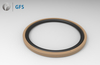 PGE - OE, Customized Piston Seal Glyd Ring PTFE (rounded chamfer with oil groove)
